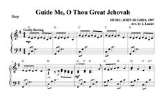 $1.50 Harp Music: Guide Me, O Thou Great Jehovah for Harp