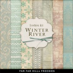 Far Far Hill - Free database of digital illustrations and papers: Freebies Winter Backgrounds Kit