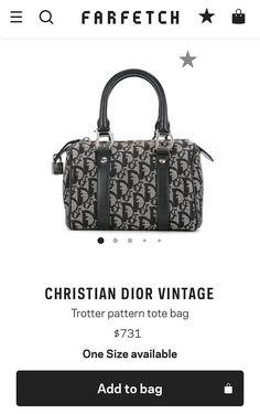 43a87f686c Christian Dior Trotter Mini Speedy 20 Top Handle Vintage Authentic  Blue  Jacquard Diorissmo PVC Canv. Sabrina Simpkins · Future bag collection