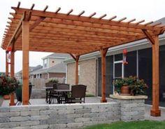Redwood Pergola-This for my backyard!!!