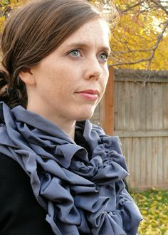 A Little Tipsy: DIY Scarf {Cascading Ruffle Infinity Scarf}
