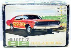 VINTAGE ORIGINAL AMT 1968 FORD GALAXIE XL 1/25 MODEL CAR KIT #6128-200 w BOX…