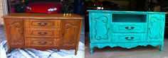 vintage dresser turned shabby chic tv stand!
