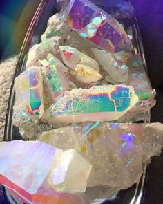Aura Quartz Shards Galore!!! available at www.ShopAurafy.com . Visit our Instagram @aurafy_ #auracrystals