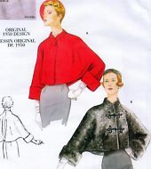 Vintage 50s JACKET Vogue Retro Sewing Pattern UNCUT Cape style SMALL Med LARGE