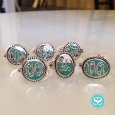 The most classic piece and one of our best sellers, these locally engraved sterling #monogrammed signet rings make the sweetest gift!