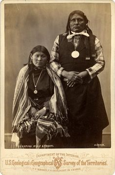 Wife of Sleeping Wolf, Gui-Kati (aka Sleeping Wolf) - Kiowa – 1872