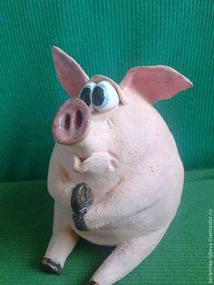 Купить Розовые хрюшки. - розовый, свинки, поросенок, для дома и интерьера, сувениры и подарки, керамика-любава
