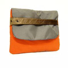 j o n e s  repurposed leather belt strap, salvaged margate trampoline canvas, vintage deckchair canvas lining www.wyattandjack.com