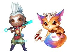 here's chibi ekko and gnar (he looks the same as a chibi and not as chibi rofl) ty for voting in poll! since zed and gnar were really close for a looong time I'm trying to finish up zed too :3