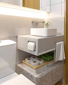 Guest Toilet, Floating Nightstand, Small Bathroom, Bathroom Ideas, Toilet Paper, Sink, New Homes, Bathtub, House