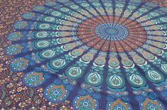 """Tagesdecken - Tagesdecke - Wandtuch """"Mandala"""" - ein Designerstück von Nomadic-affairs bei DaWanda"""