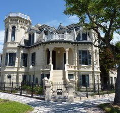 Galvaston TX    once the largest city west of the mississippi, galveston is home to six historic districts containing one of the largest and historically significant collections of nineteenth-century buildings...it has 60 structures listed in the national register of historic places...