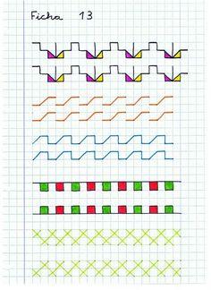 Graph Paper Drawings, Graph Paper Art, Improve Handwriting, Handwriting Practice, Preschool Writing, Kindergarten Activities, Blackwork, Notebook Drawing, Fine Motor Activities For Kids
