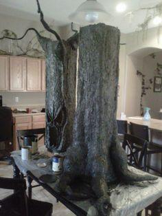 creepy tree tutorial; 2 pcs for easier storage too!