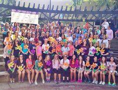 Sigma Kappa, Kappa Zeta (Elon) is all smiles at the Walk to End Alzheimer's!