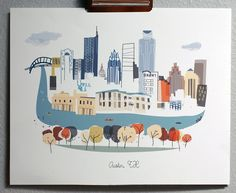 Austin. $30.00, via Etsy.  Here's hoping one day she'll do one for Dallas.