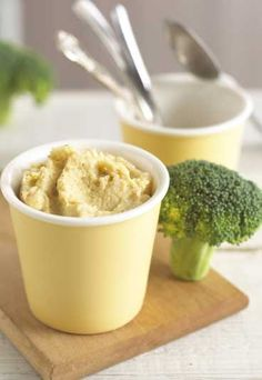 """Cod and Broccoli puree - 8 baby food recipes to feed your child - """"This flavourful fish puree is packed with protein, iron, vitamin C and antioxidants, making it the perfect way to make sure your baby gets the nutrients he/she needs."""" says Annabel..."""