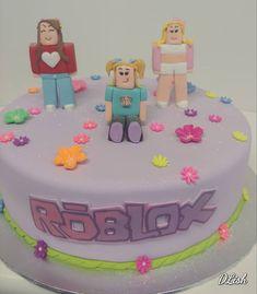 Roblox #roblox #characters #figurines #flowers #game #cake #dlish Roblox Birthday Cake, Roblox Cake, Birthday Cake Girls, Roblox Roblox, Birthday Cakes, Cupcake Cookies, Cupcakes, Birthday Packages, Girl Cakes