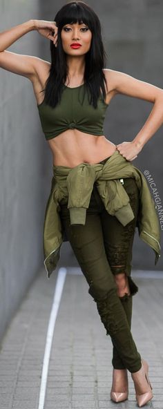 Military Vibing Fall Streetstyle Inspo by Micah Gianneli