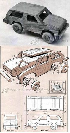 Wooden 4х4 Off Roader Plan - Wooden Toy Plans and Projects | WoodArchivist.com