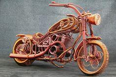 Miniature Harley motorcycle, Harley Motor series NO.2, handmade motorcycle, Davidson model, handcrafts, 35cm*18cm*23cm, 550g