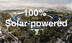 Apple Spaceship HQ 100% solar powered