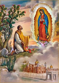 Our Lady of Guadalupe Blessed Mother Mary, Blessed Virgin Mary, Catholic Art, Catholic Saints, Roman Catholic, Religious Icons, Religious Art, Pape Jean Paul Ii, San Juan Diego
