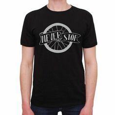 T-Shirt Never Stop Black by R3lov