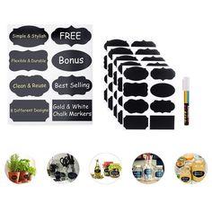 Chalkboard Labels 40Pcs Premiumlabeling Highlighter Reusable Chalkboard Labels