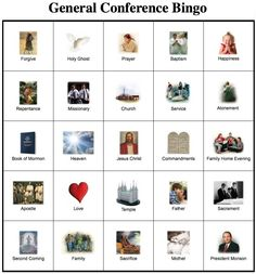LDS Games - Other - General Conference Bingo