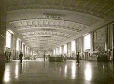 "shakypigment: ""Concourse at Cincinnati Union Terminal, "" The Buckeye State, Ohio River, Googie, Historical Photos, Vintage Postcards, Cincinnati, Kentucky, History, City"