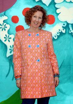 Burda Coat, Double Breasted, 02/2015, #120, Orange and Pink Spring Coat, DYT Type One http://www.acolourfulcanvas.com/2015/03/orange-pink-burda-coat-022015-120.html