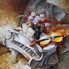 modern piano: by Nathan Brutsky Piano Funny, Piano Art, Music Backgrounds, Jewish Art, Creative Art, Art Projects, Contemporary Art, Art Photography, Illustration Art