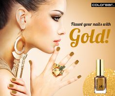 Envelope your nails in Gold with ColorBar's 24 CT Nail Lacquer: http://www.colorbarcosmetics.com/24-Carat-Nail-Lacquer