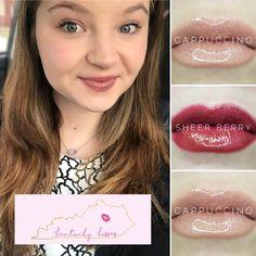 Sheer Berry and Cappuccino LipSense Layer Combo Collage! #makeup #lipsense #lipstick