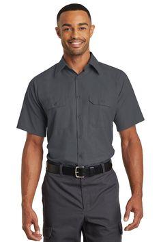 Red Kap Short Sleeve Solid Ripstop Shirt SY60 Charcoal