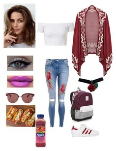 """""""Untitled #807"""" by jujuxx33 ❤ liked on Polyvore featuring xO Design, adidas, Oliver Peoples and Victoria's Secret"""