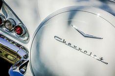 1958 Chevrolet Bel Air Convertible Taillight Emblem  - Car Images by Jill Reger