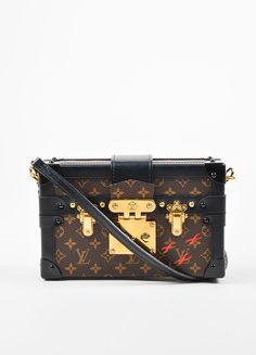 ad230625296d Louis Vuitton Limited Edition Brown and Black Canvas