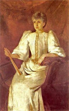 1896 Olga Boznanska (Polish Impressionist painter, 1865-1945) Portret kobiety