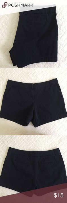 "J. Crew Navy Blue Chino Shorts A Summer staple - 100% cotton navy blue chino shorts - city fit - pockets - 5"" inseam - great pre-loved condition J. Crew Shorts"