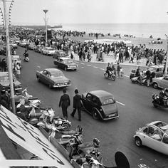 Mods and rockers on the seafront 1964