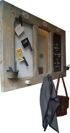 Desserte d'entrées - détournement fenêtre d'escalier by Custom' Bricol'