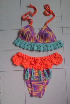 vestido de baño a crochet