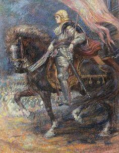 Henry De Groux (Belgian, 1866 - 1930)   General with horse, N/D
