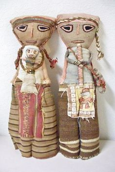 I have one of these and had no idea it was a grave doll. Peru Grave Dolls Pre-Columbian Cloth