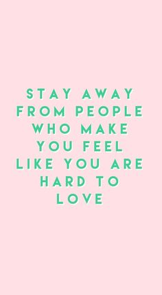 Stay away from peopl