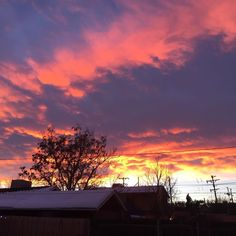 Frozen Fire Sunset #sunset #frozenfire #denver #nofilter #milehighsky
