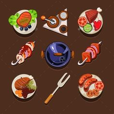 BBQ Grill Icon - Food Objects